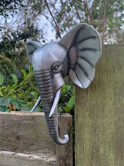 Hanging elephant head