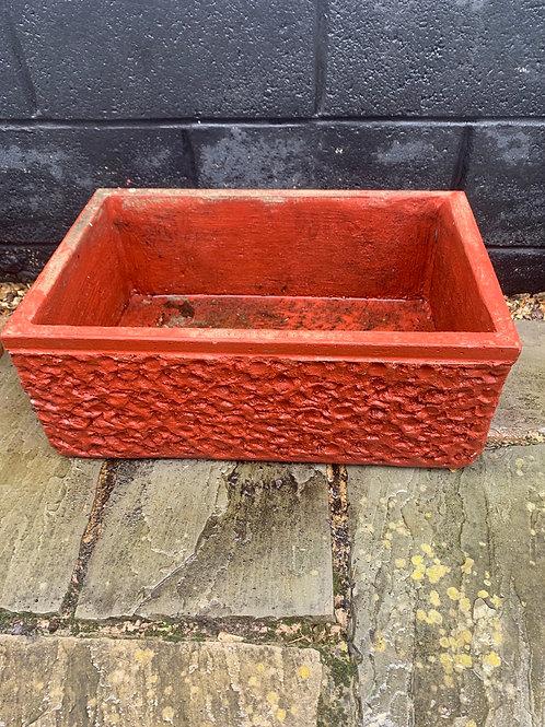 Red stone vintage planter
