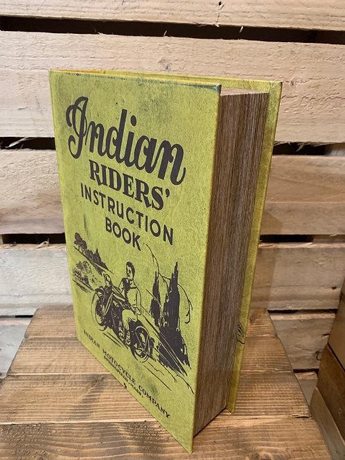 Large Indian Rider's book storage box