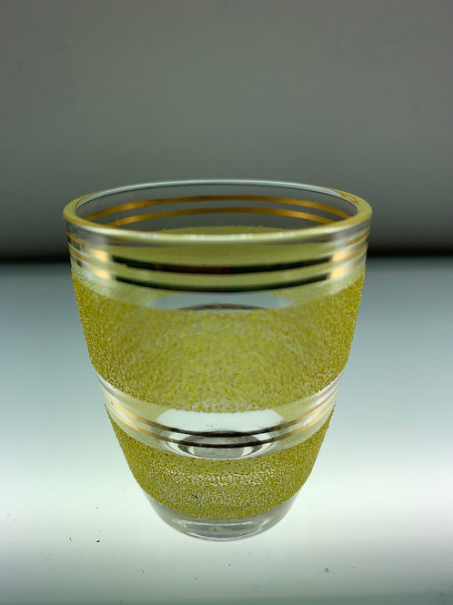 Yellow Art Deco shot glass