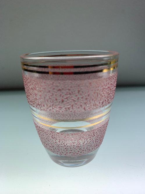 Pink Art Deco shot glass