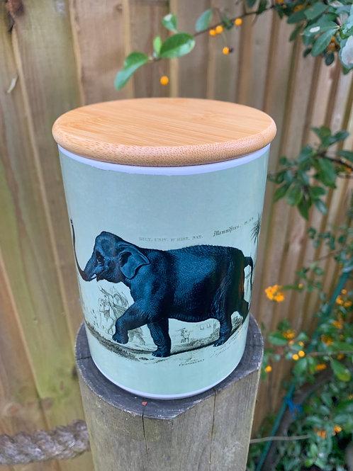 Elephant ceramic caddy