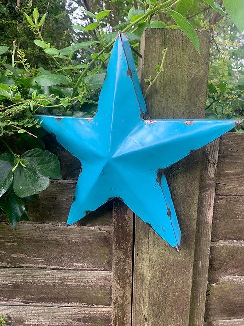 Large metal blue star