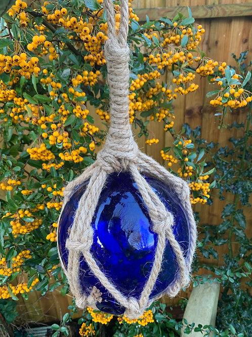 Large royal blue glass buoy