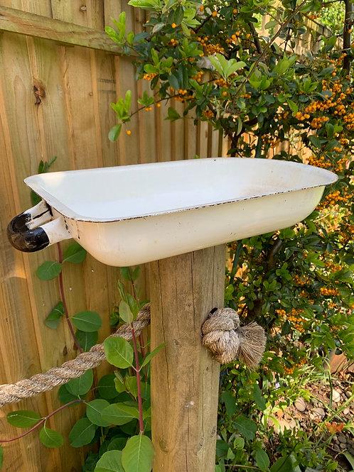 Vintage Polish enamel trough/bird bath?!