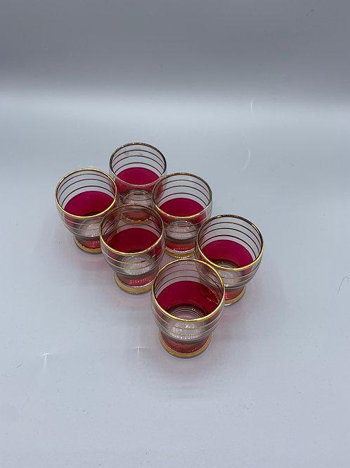 Original set of 6 1950's shot glasses