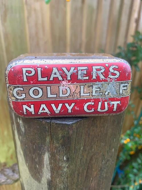 Players 50's tobacco tin