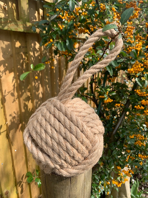 Natural jute rope doorstop