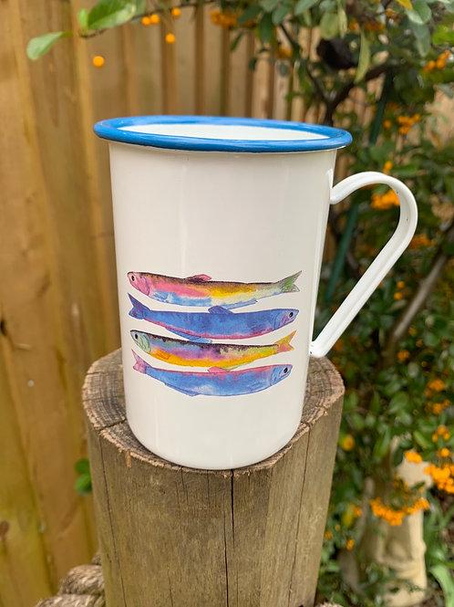 Enamel sardine mug