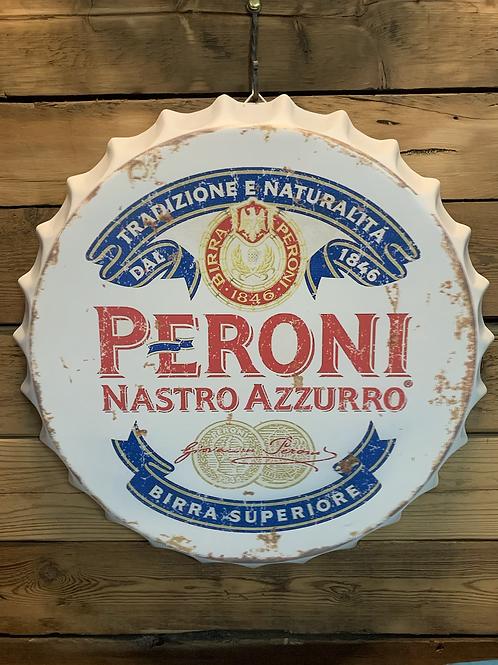 Giant wall hanging Peroni bottle top