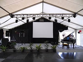 PA SOUND TRUSS PROJECTOR SCREEN