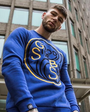 GSBS YY Sweatshirt worn by Model Rory Ba