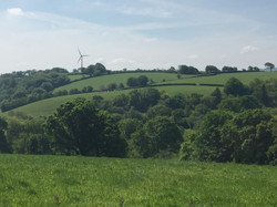 View over to windmill from Polyphant