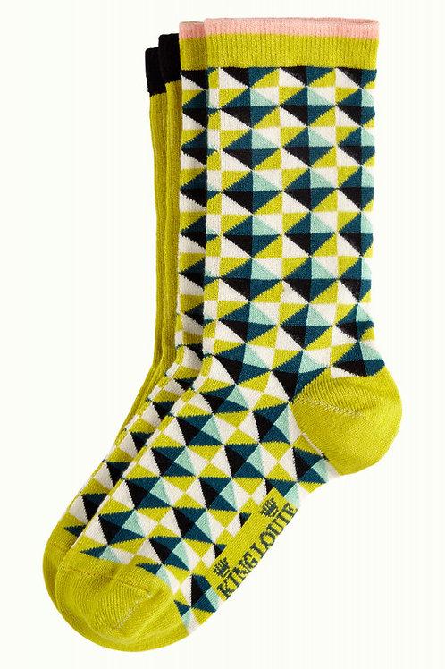 KING LOUIE Socks 2-Pack Harlequin