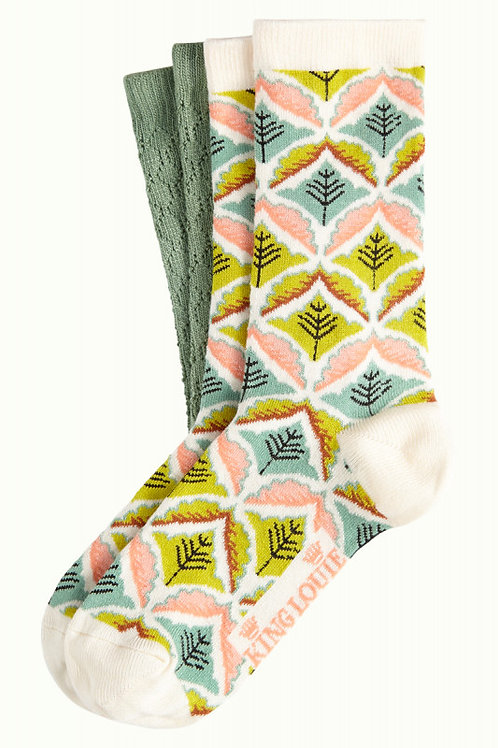 KING LOUIE Socks 2-Pack Medaillon