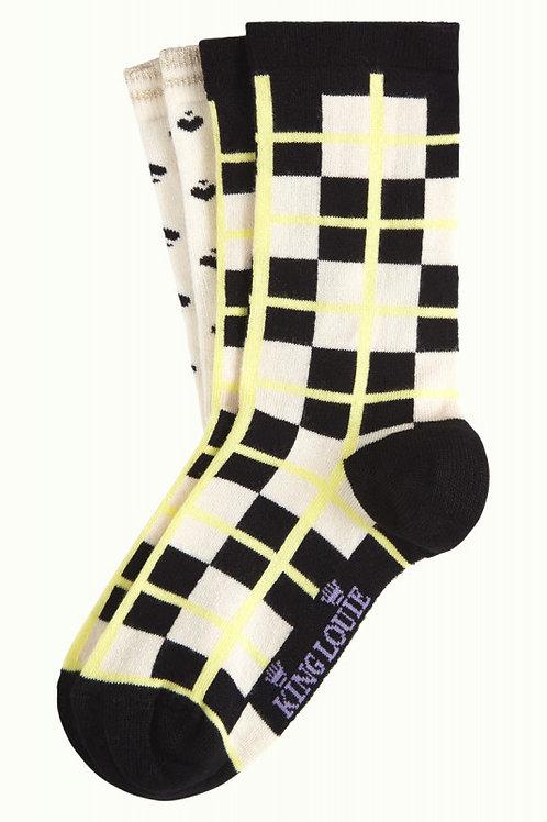 KING LOUIE Socks 2-Pack Feliz