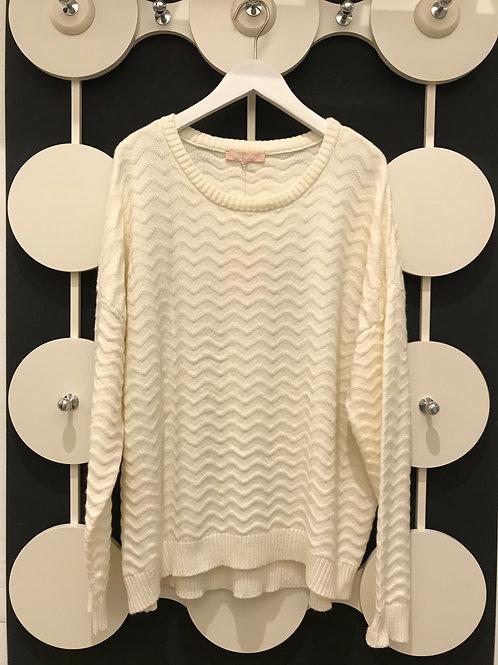 SOFT REBELS Pullover mit Zickzack Muster: Kabla