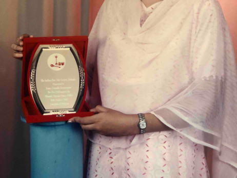 Award of Recognition by Indian Fine Arts Society, Bahrain - 2003