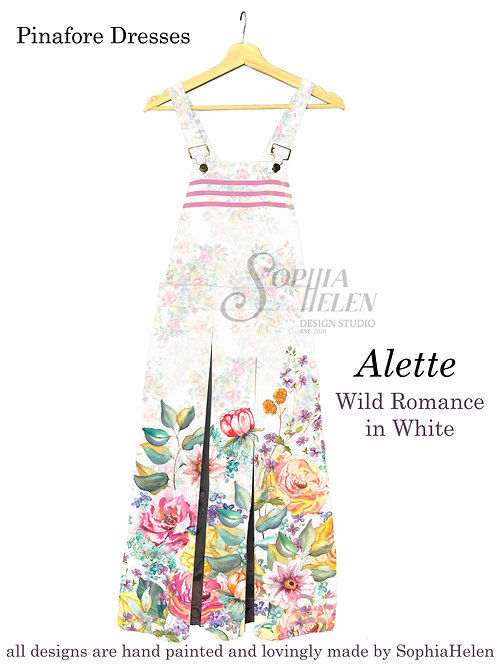 Alette Pinafore / Wild Romance / White