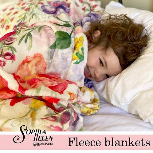 Leah Fleece Blanket (White)