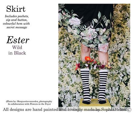 Ester Skirt / Wild  / Black