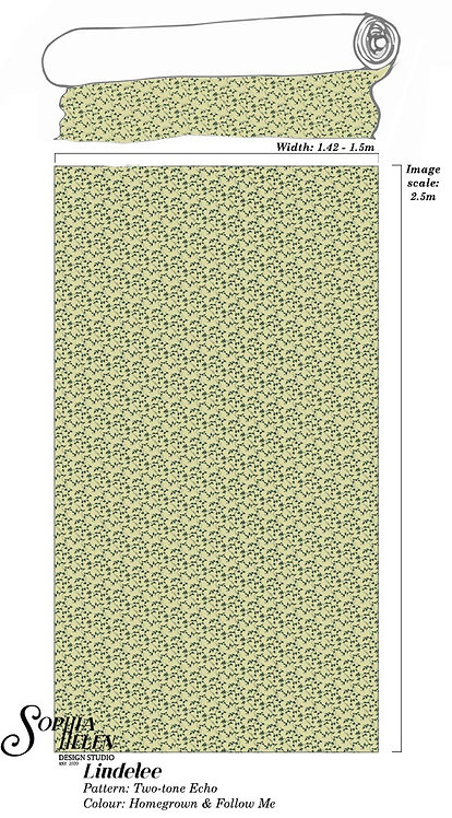 Lindelee Fabric: Two-tone Echo per meter