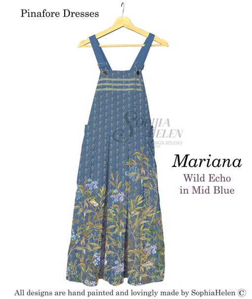 Mariana Pinafore Wild Echo Mid Blue
