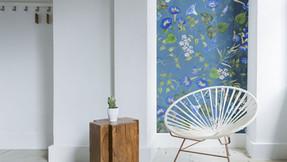 Wallpaper strips - a budget friendly decor hack