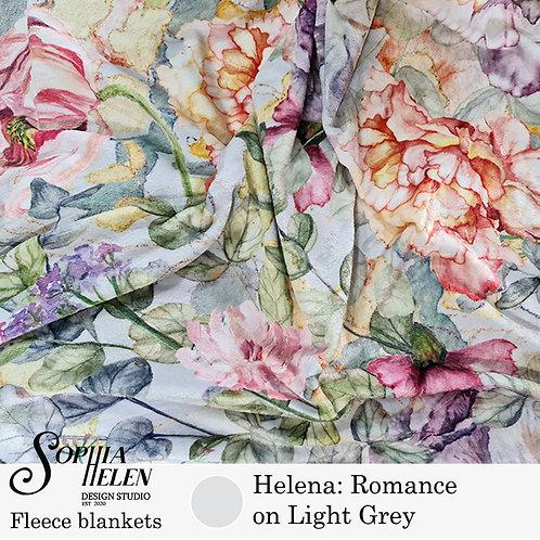 Helena Fleece Blanket (Light Grey)