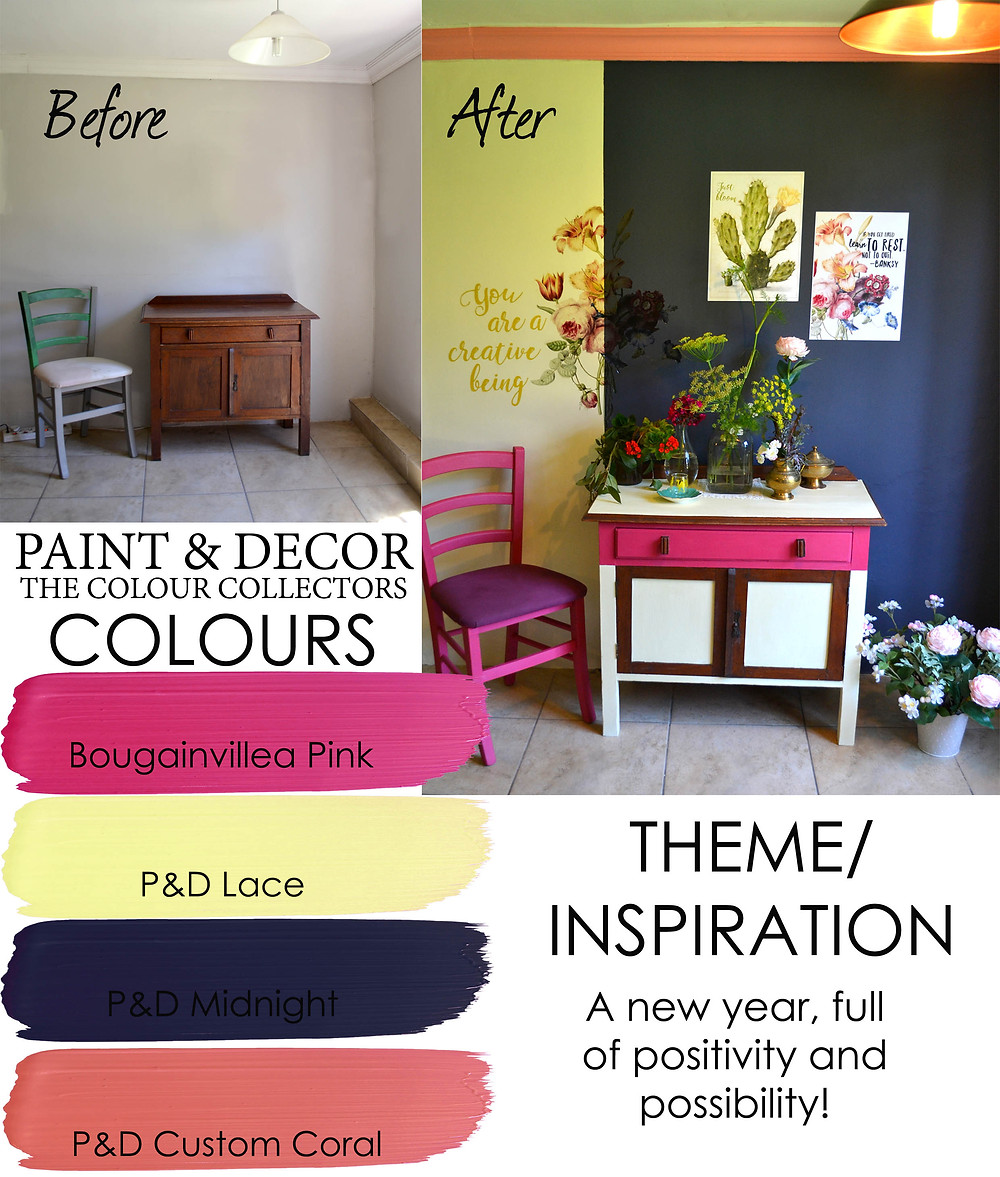 Colours we used for the walls