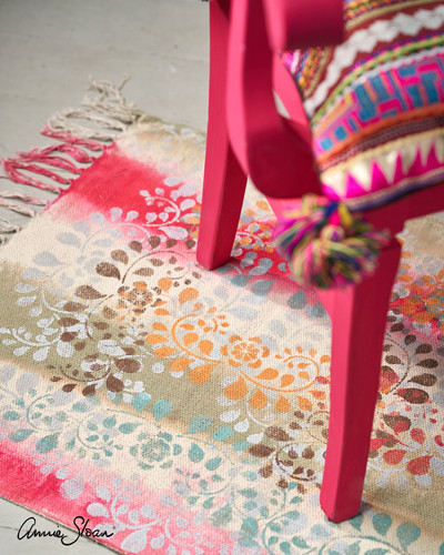 Indian-inspired-Capri-Pink-chair-with-Fa