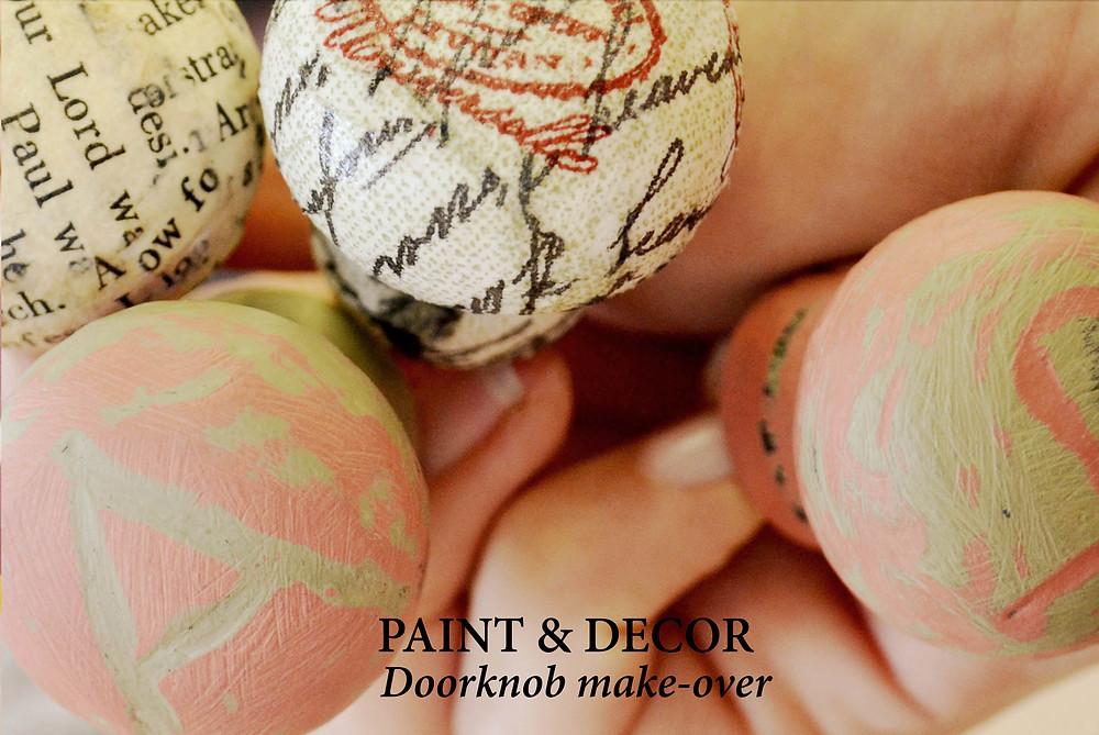 Next blog post: Doorknob makeover with decoupage