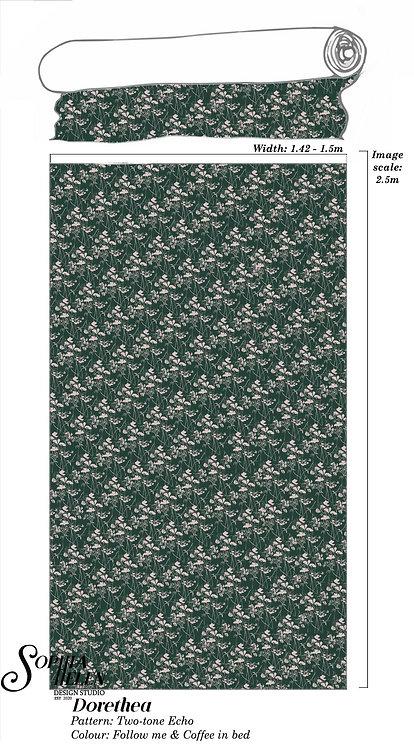 Dorethea Fabric: Two-tone Echo per meter