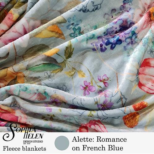 Alette Fleece Blanket (French Blue)