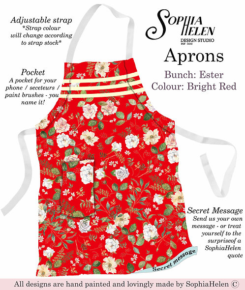 Apron / Ester / Bright Red