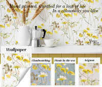 Sophiahelen Dorethea yellow echo wallpap
