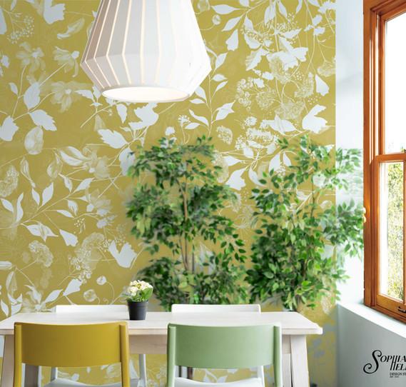 SophiaHelen Wallpaper Yellow Dorethea Romance