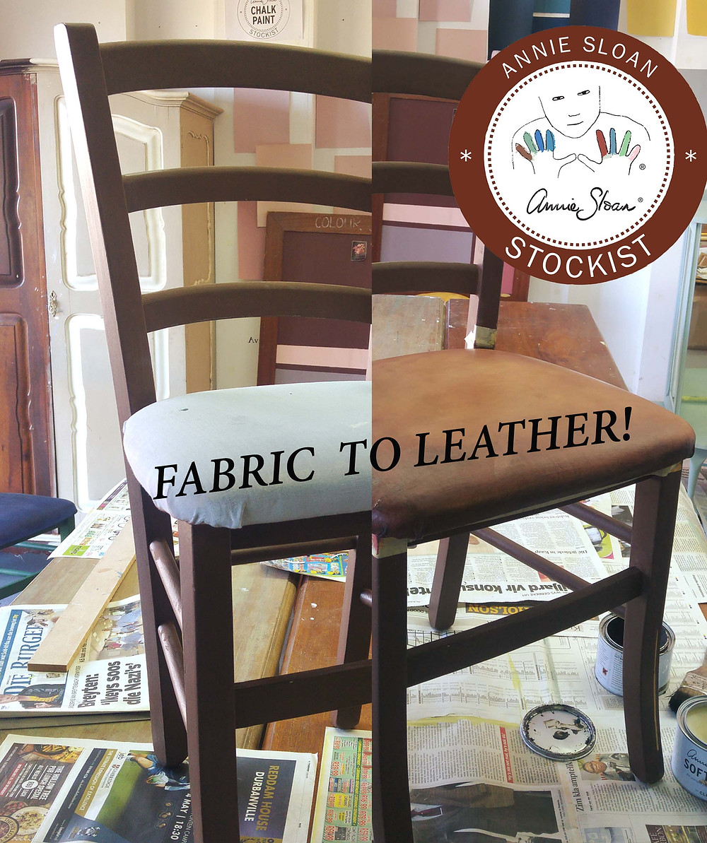 Paint your fabric to look like Leather with Annie Sloan Paint!