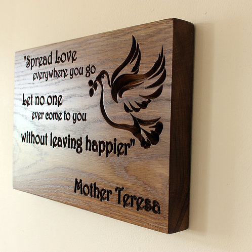 Personalized Handcrafted Oak Wooden Wall Plaque