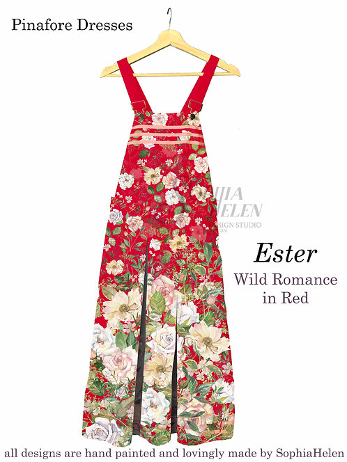 Ester Pinafore / Wild Romance / Red