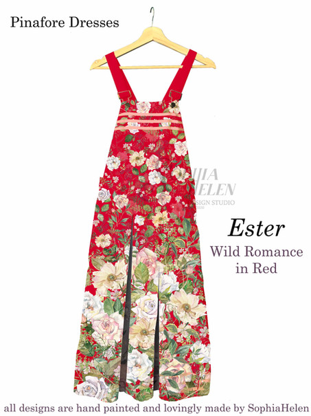 Ester Pinafore Wild Romance Red.JPG