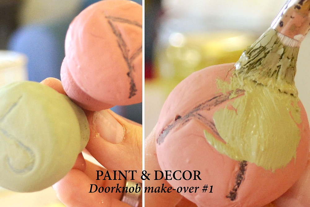 Paint a second colour over the first coat of paint after it has dried