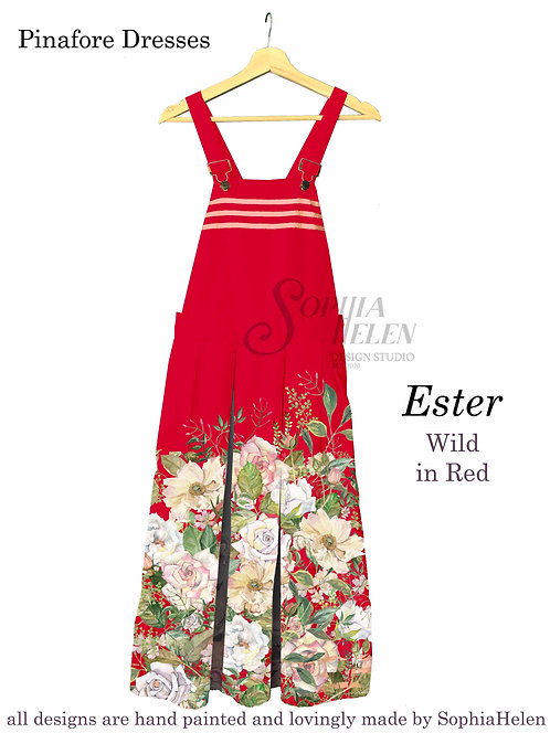 Ester Pinafore / Wild / Red