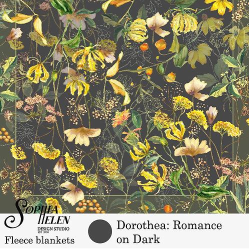 Dorothea Fleece Blanket (Dark)