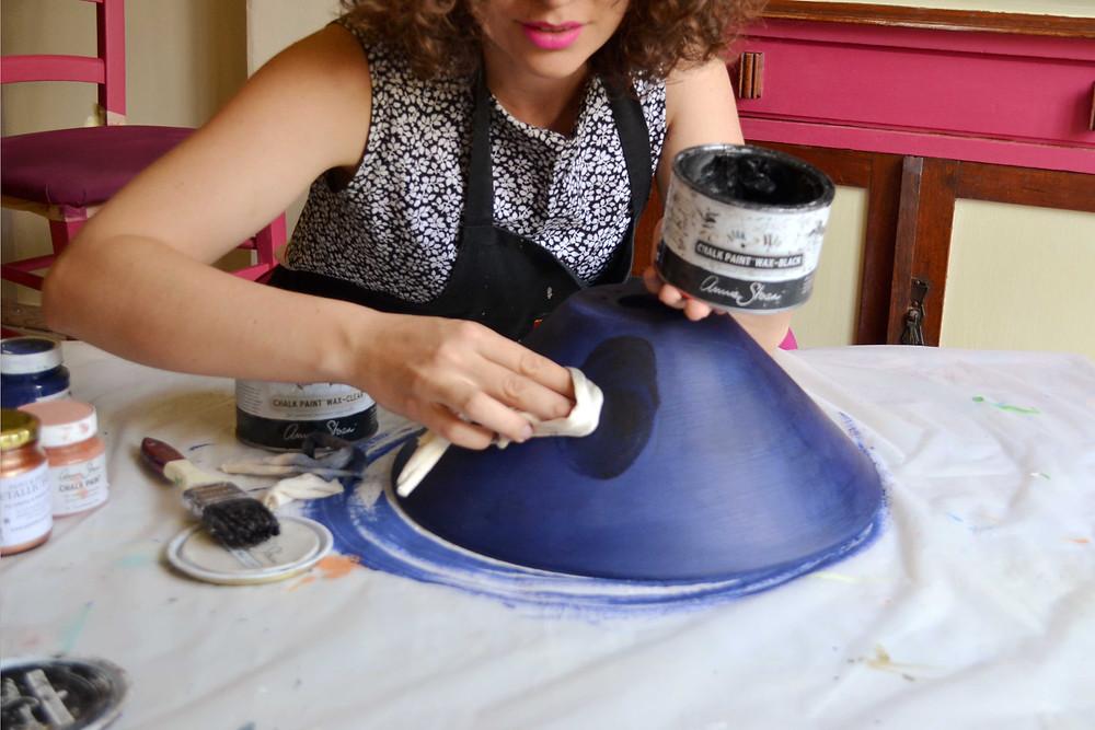 Step 5: Wax with Annie Sloan Soft Black Wax