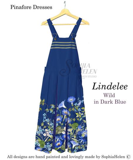 Lindelee Pinafore Wild  Dark Blue