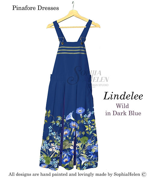 Lindelee Pinafore / Wild  / Dark Blue