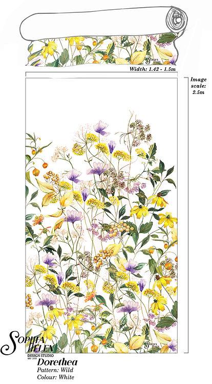 Dorethea Fabric: Wild per meter