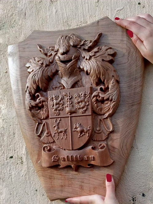 Family Crest with Shield