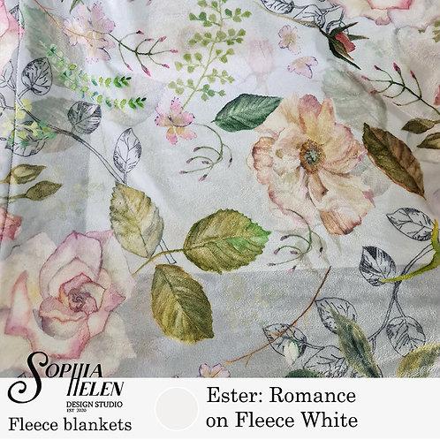 Ester Fleece Blanket (Fleece White)
